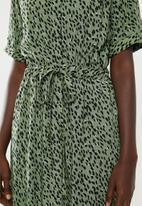 New Look - Elma drawstring dress - green