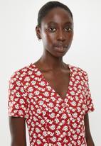 New Look - Floral mini dress - red