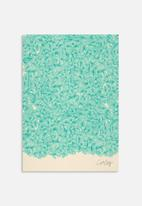Cat Coquillette - Abstract pattern turquoise