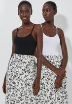 Superbalist - 2 Pack cami bodysuit - black & white