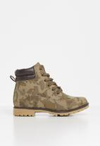 POP CANDY - Camo printed boot - brown & tan