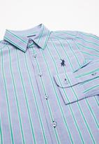 POLO - Boys brandon long sleeve striped shirt - blue