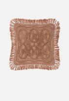 Linen House - Sommers cushion cover - maple