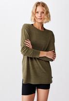 Cotton On - Back twist long sleeve top - khaki