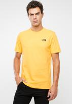 The North Face - Redbox logo short sleeve tee - yellow & black