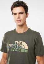 The North Face - Mountain line short sleeve tee - khaki
