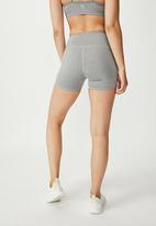 Cotton On - Highwaisted shortie short - mid grey marle