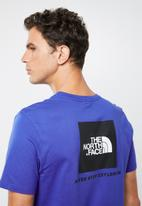The North Face - Redbox logo short sleeve tee - blue