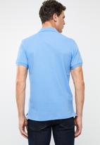 POLO - Polo riveria custom fit short sleeve golfer - blue