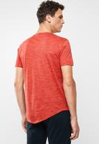 POLO - Oliver space dye V-neck short sleeve T-shirt - tangerine