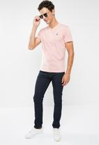 POLO - Michael plain V-neck short sleeve T-shirt - pink