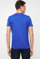 POLO - Michael plain V-neck short sleeve T-shirt - blue