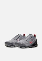 Nike - Air Vapormax Flyknit 3 - particle grey/university red-black