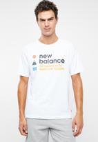 New Balance  - New balance athletics trail tee - white
