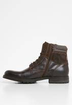 Jack & Jones - Zachary lace-up boot - brown