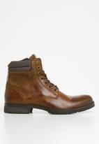 Jack & Jones - Zachary lace-up boot - tan