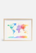 artPause - Watercolour political map of the world 3