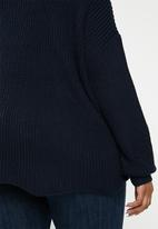 Carmakoma - Lobster long sleeve oversize pullover - navy