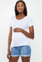 Cotton On - Maternity henley short sleeve top - grey