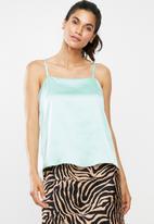 Glamorous - Thin strap cami - mint green