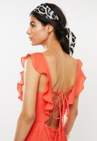 Glamorous - Square neck dress - orange