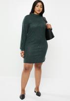 Carmakoma - Camila long sleeve dress - green