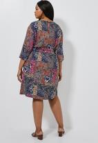 Superbalist - Wide sleeve shift dress - mutli