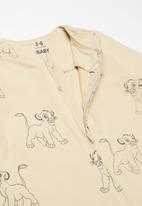 Cotton On - The long sleeve zip romper - beige