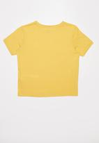 Free by Cotton On - Girls ringer tee - yellow