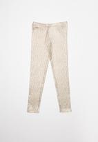 Cotton On - Huggie tights -  beige & rose gold