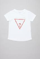 GUESS - Short sleeve guess tri tee - white