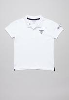 GUESS - Teens short sleeve Guess core polo - white