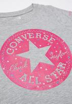 Converse - Chuck patch glitter tee - grey