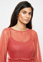 Me&B - Mash long sleeve dress - rust