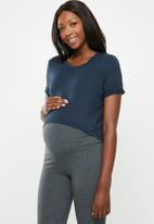 Cotton On - Maternity high low short sleeve top - navy