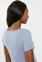Cotton On - Maternity henley short sleeve top - blue