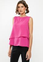 edit - Double layer vest - pink