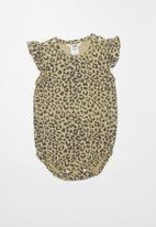 Cotton On - Lola playsuit - beige & charcoal