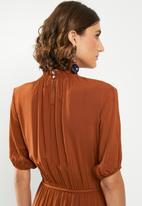 edit - Tiered peasant dress - rust