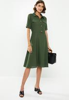 edit - Linen shirt dress - khaki