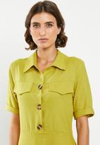 edit - Linen shirt dress - green