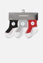 Converse - Infant striated quarter 3 pack - multi