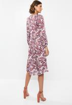 edit - Peasant dress - multi
