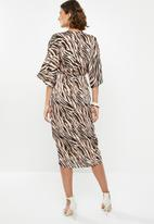 edit - Wrap over dress - black & neutral
