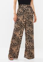 Glamorous - Wide leg trouser - black & neutral
