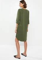 edit - Crepe tunic dress - khaki