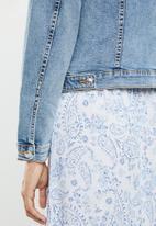 MANGO - Pocketed denim jacket - blue