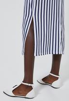 Superbalist - Knit strappy dress - navy & white