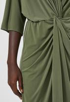 Superbalist - Kimono knot front dress - khaki