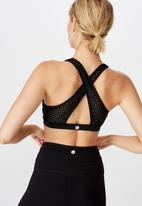 Cotton On - Workout cut out crop - black laser